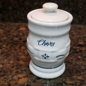 Longaberger Pottery Woven Classic Blue